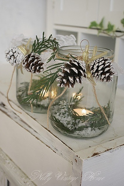 Pine cone jars