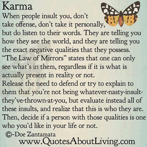 law of mirrors karma quote