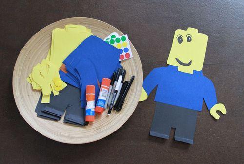 Lego man craft