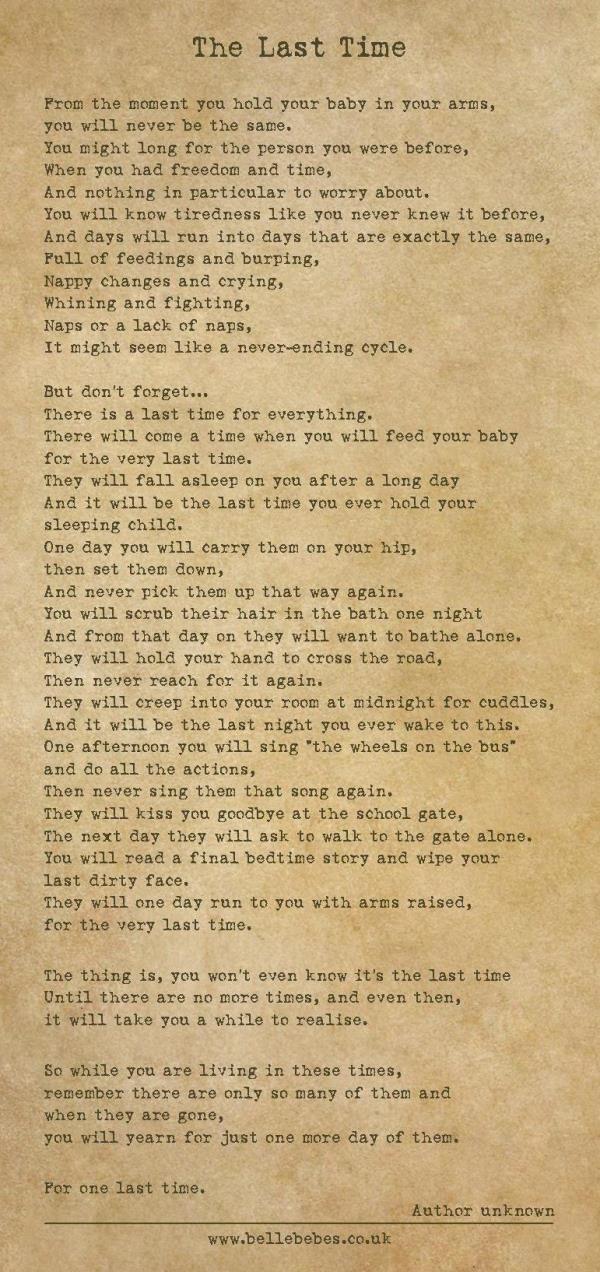Last time poem